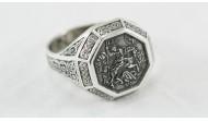 """Сребърен пръстен """"Св. Георги"""""""