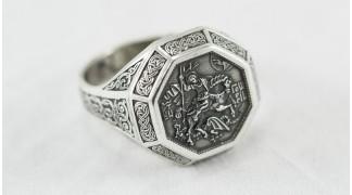 """Сребърен пръстен """"Свети Георги - Победоносец"""""""