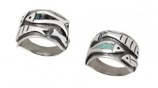 Сребърен пръстен Риби R122