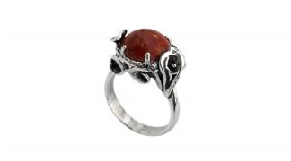 Сребърен пръстен Корал 1178R