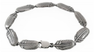 Сребърна гривна - пера 17A
