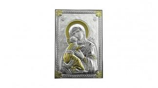 Сребърна икона Богородица с Младенеца 18042