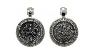 Сребърен медальон KS014