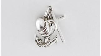 Сребърен медальон Вяра Надежда Любов